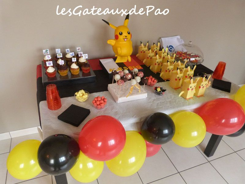 sweettable pikachu02 pok mons pinterest anniversaire pokemon anniversaires et pok mon. Black Bedroom Furniture Sets. Home Design Ideas