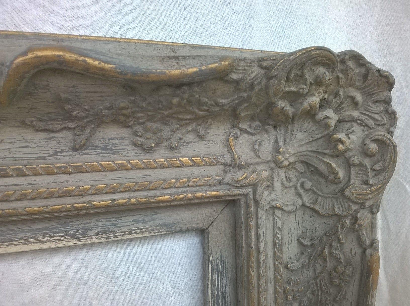Barok Spiegel Wit : Patineren in een landelijke stijl barok spiegel met een