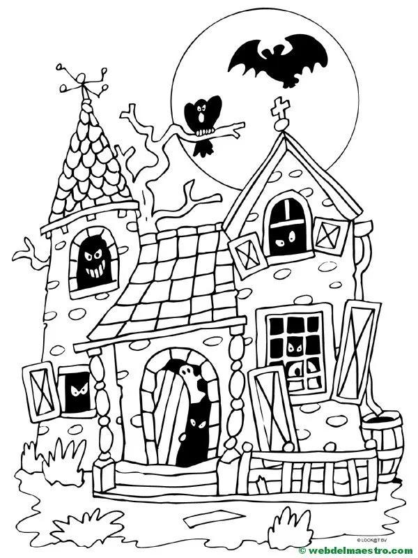 Feliz Halloween Dibujos Halloween Para Colorear Primaria Web Del Maestro Halloween Para Colorear Feliz Halloween Dibujos De Halloween