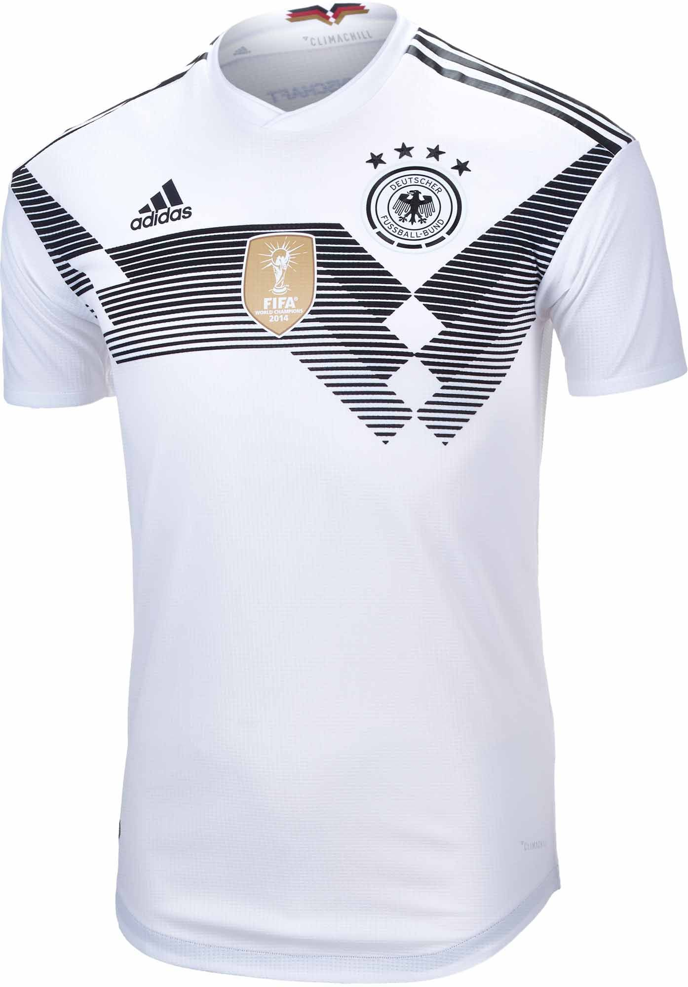adidas Germany Authentic Home Jersey 2018-19 NS  7d2d4485a