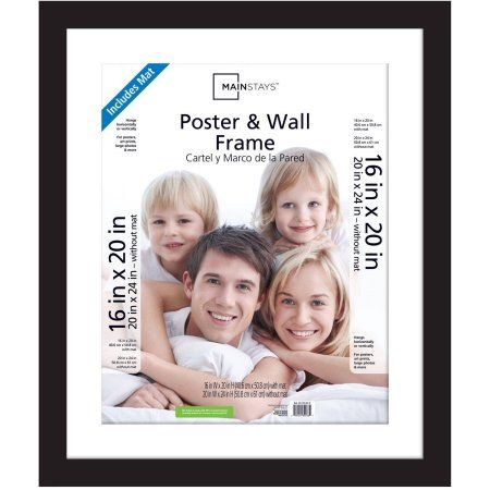 Mainstays 20x24 Matted To 16x20 Wide Gallery Poster And Picture Frame Black Walmart Com In 2020 Frames On Wall Poster Frame Mainstays