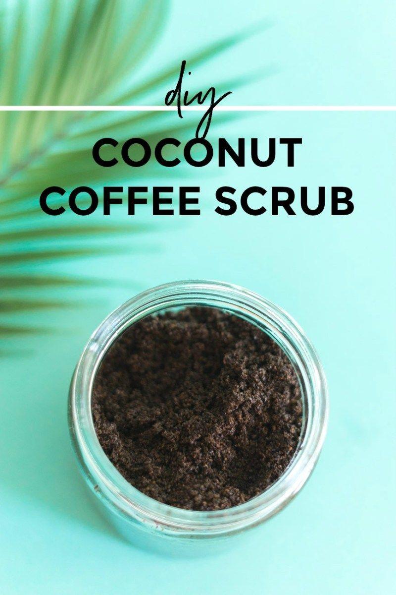 DIY Coconut Coffee Scrub (With images) Coffee scrub