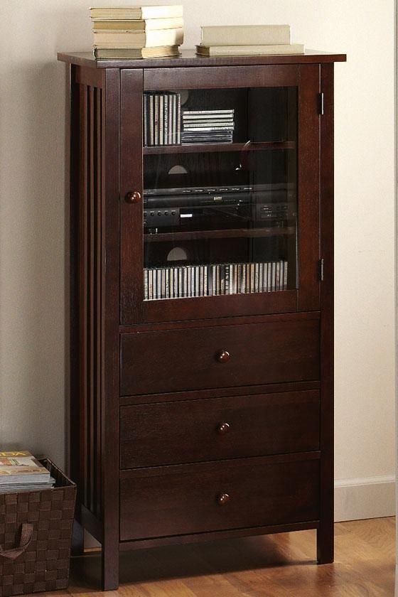 Mission-Style Media Cabinet - Audio Cabinets - Home Theater ...