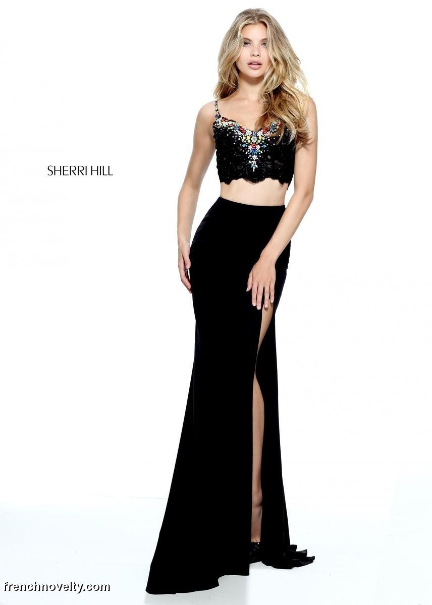 69b2eae93bc Sherri Hill 51191 is a 2-piece prom dress with a sleeveless