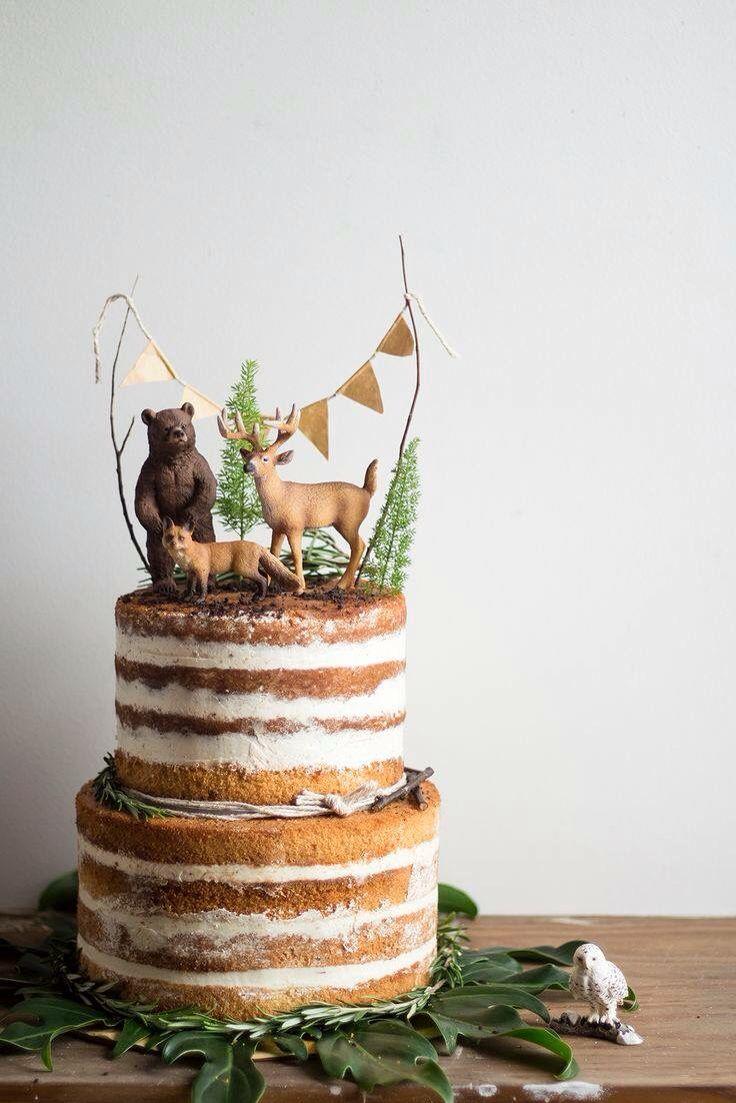 Naked Woodland Wedding Cake By Migalha Doce