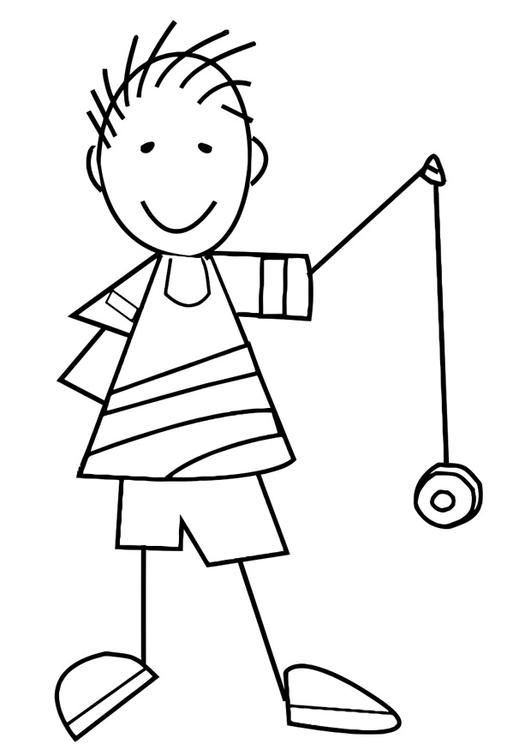 Y Is For Yo Yo Coloring Page Letter Activities Preschool