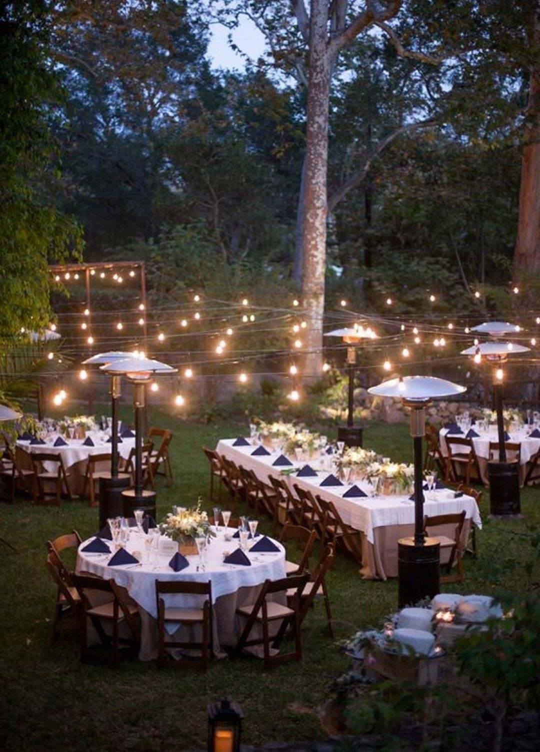 1 Sweet And Romantic Backyard Wedding Decor Ideas Romantic Backyard Outdoor Wedding Backyard Dinner Party Backyard garden wedding reception