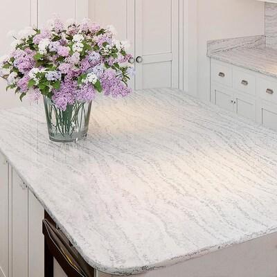 Allen Roth Frost Quartz Kitchen Countertop Sample At Lowes Com