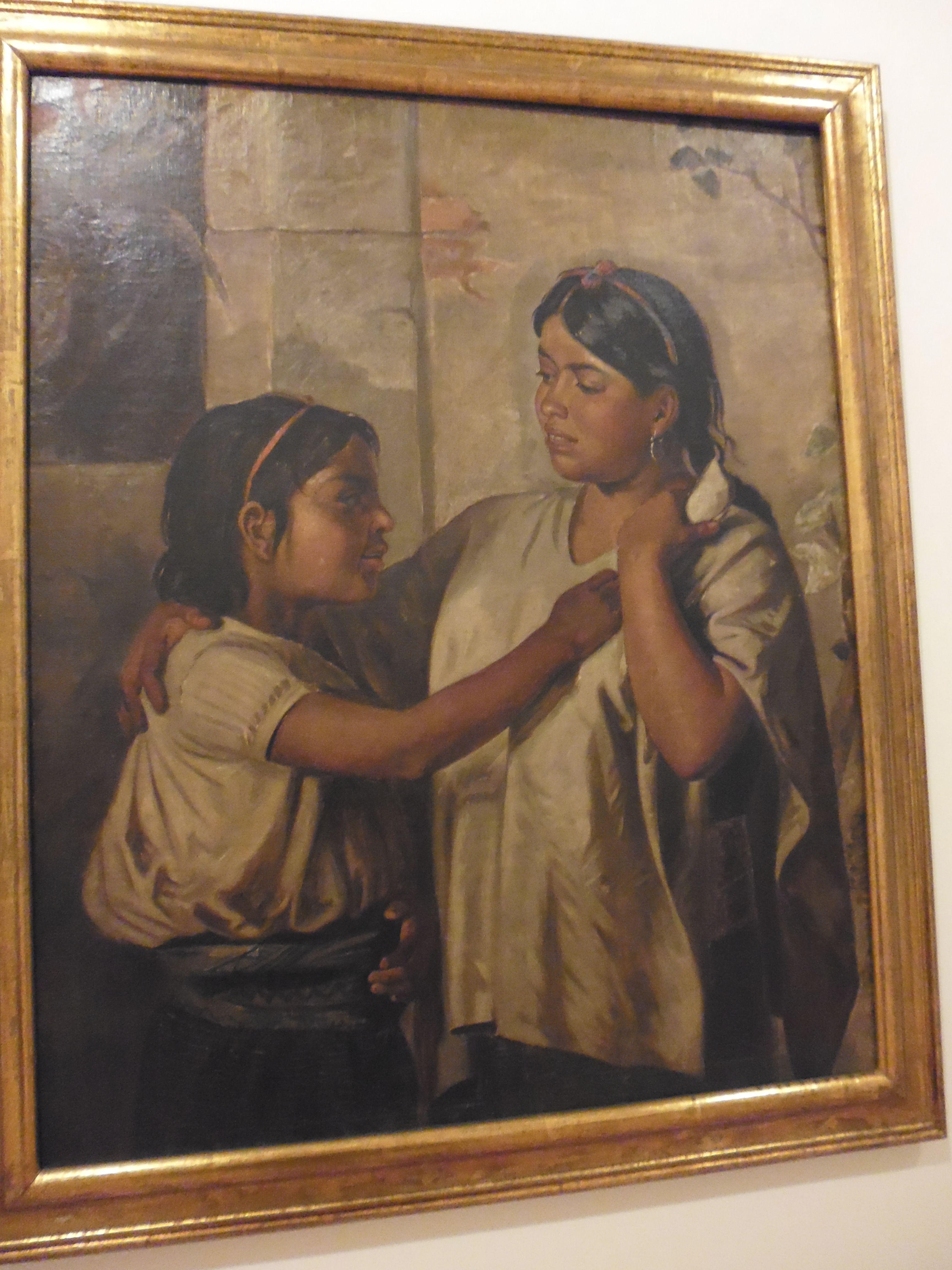 Felipe Santiago Gutiérrez Mexico 1824 Indias de Oaxaca Indias disputandose una tortilla 1877