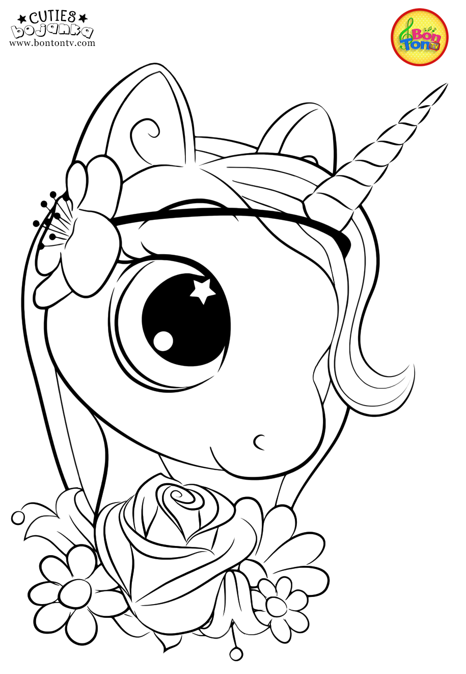 Cuties Coloring Pages For Kids Free Preschool Printables Slatkice Bojanke Cute Animal Colorin Unicorn Coloring Pages Animal Coloring Pages Coloring Books