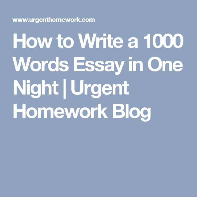 writing an essay in one night