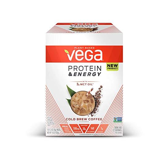 Amazon Com Vega Protein Energy Cold Brew Coffee 24 Servings 29 7 Oz Plant Based Vegan Non Dairy Pr Protein Energy Cold Brew Coffee Vegan Protein Powder