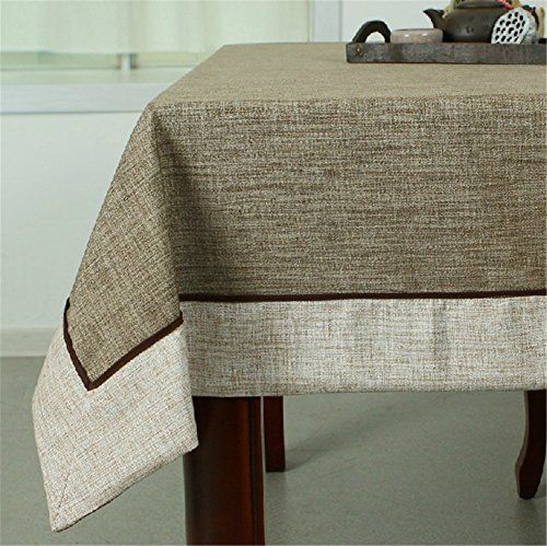 SNW Pure Vintage Cotton and Linen Tablecloth Rectangle Tablecloth ...