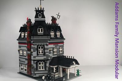 Addams Family Mansion Modular Creations En Lego Lego