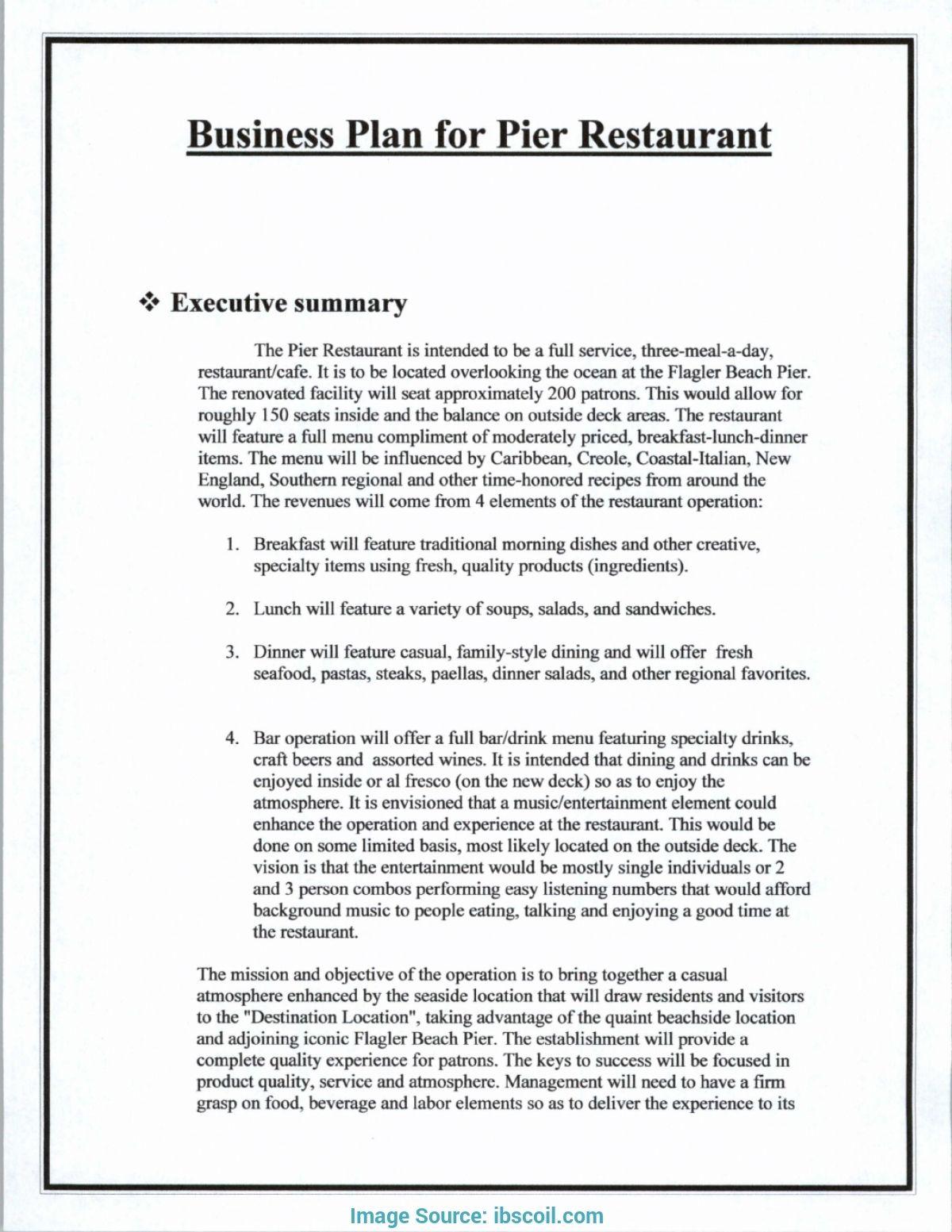 Business Plans Executive Summary Plan Restaurant Of Hotel Pertaining To Executi Restaurant Business Plan Business Plan Template Word Business Plan Template Pdf
