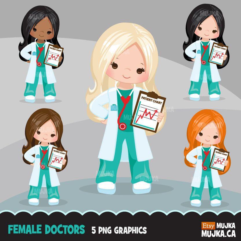 35+ Black Female Doctor Clipart