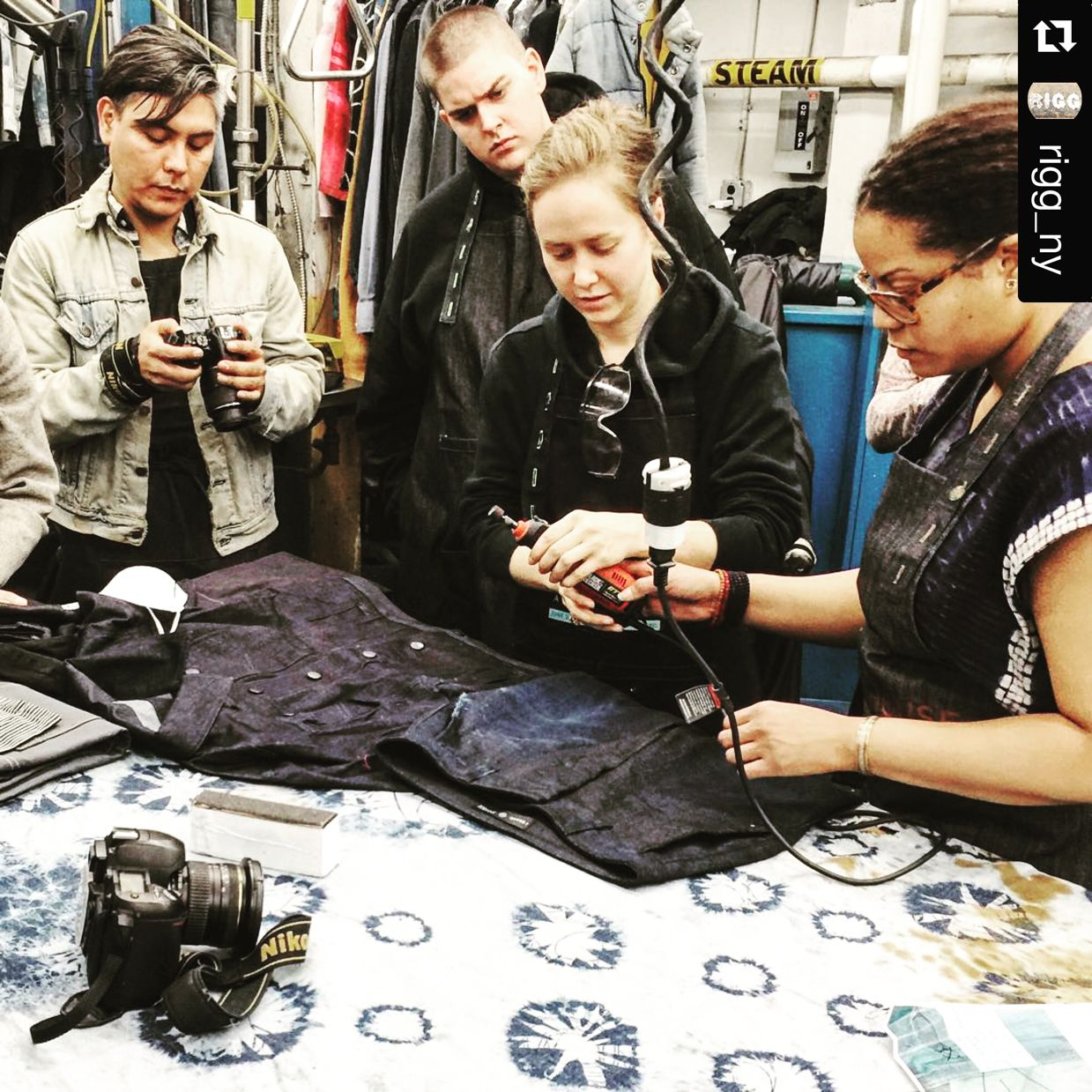 Denim 101 Class Dates for March.  — LIVE shot from today's denim class! MARCH DATES: 22nd/23rd Just hit reply and ask for details. We will hit you right back .