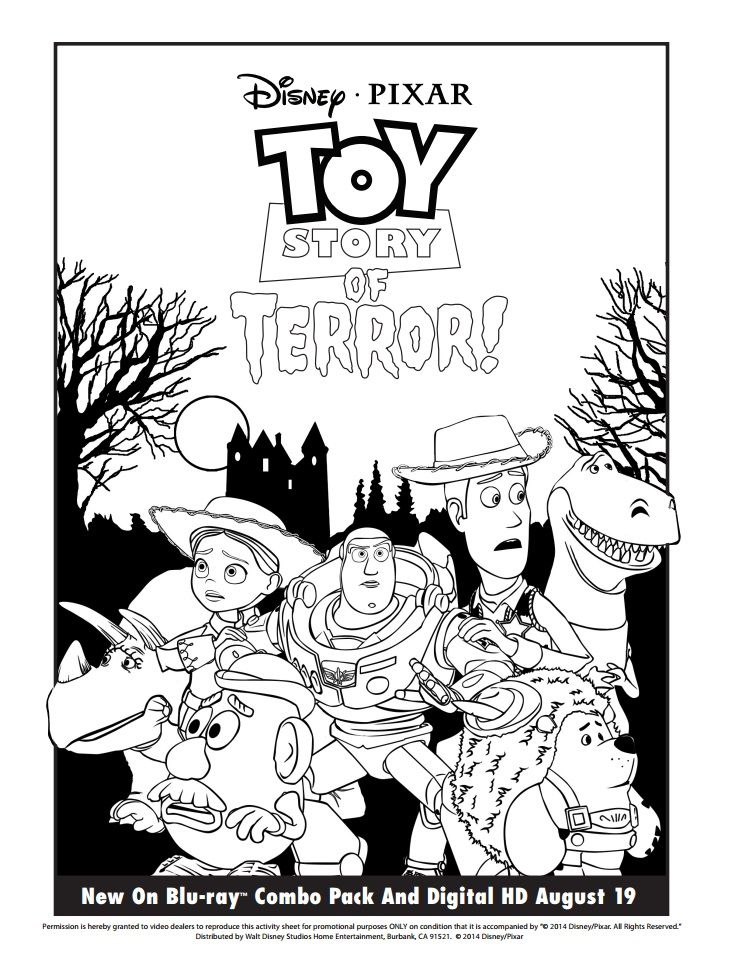 Pin by Susan Popp on Halloween | Toy story coloring pages ...