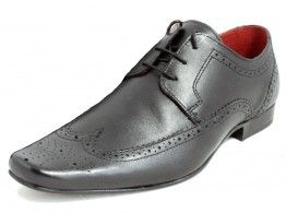 Red Tape Ryton Black Lace Up Brogues Formal Office Leather Mens Shoes 25 99