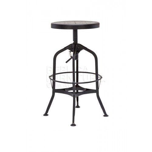 Industrial Bar Stool 65cm Black Industrial Furniture Brisbane