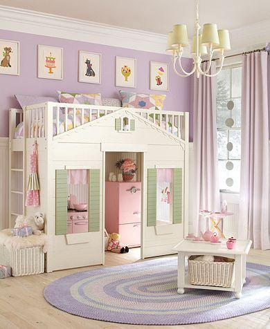 Little Cottage Loft Bed Girl Room Girls Bedroom Kids