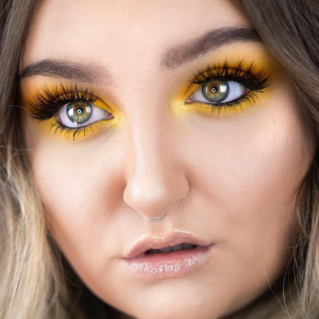 RawBeautyKristi (rawbeautykristi) Yellow eye makeup