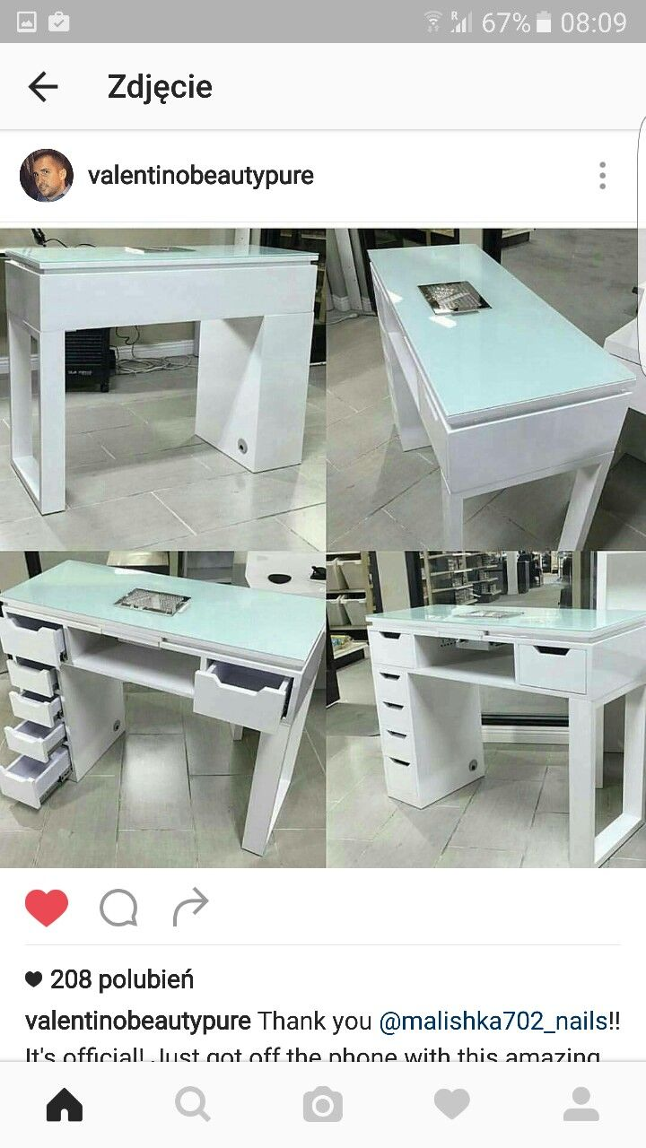 Manicure table wood pinterest sal o est tica e for Cheap nail desk