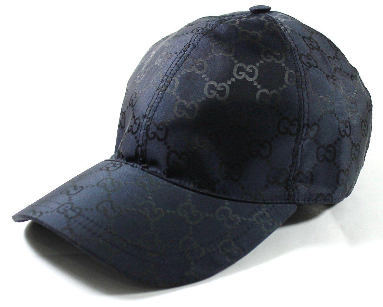 b1122dde0e070 Auth GUCCI Men s Nylon GG Guccissima Web Stripe Baseball Cap Navy Sz L NEW