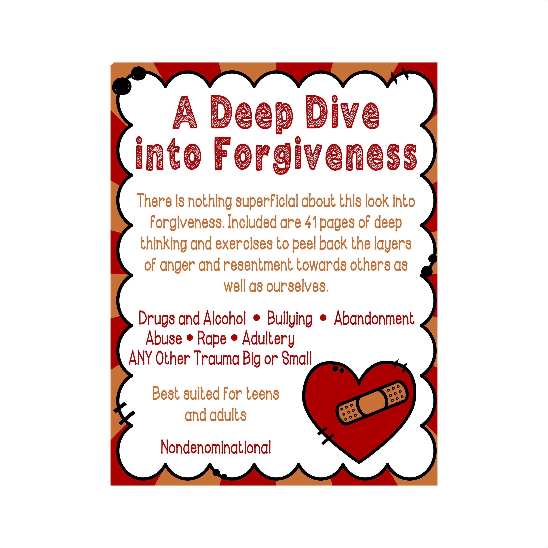 A Deep Dive Into Forgiveness Downloadable Worksheets