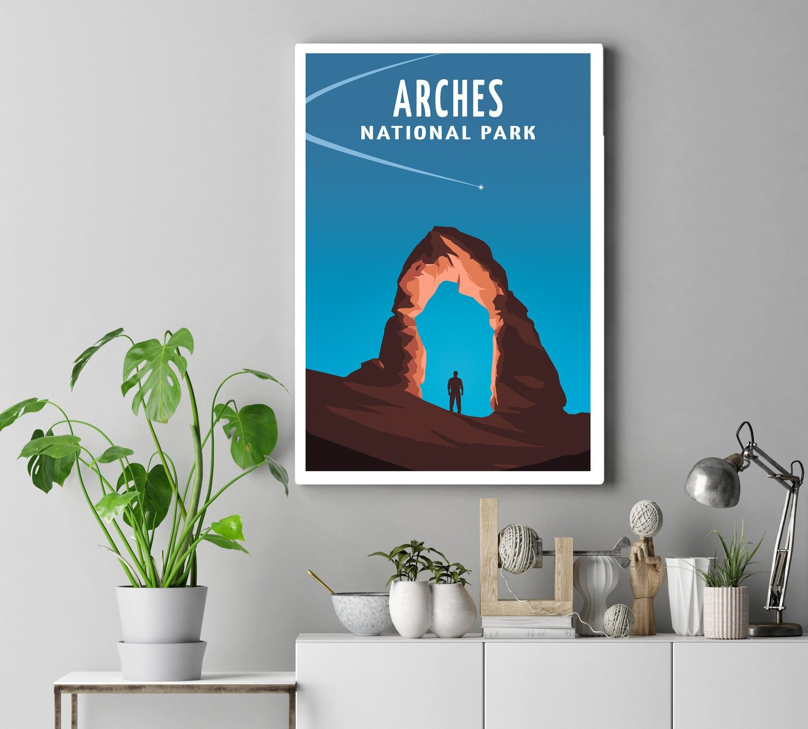 Arches National Park Travel Poster Utah Decor Wall Art Print Etsy Arches National Park National Parks Trip National Parks