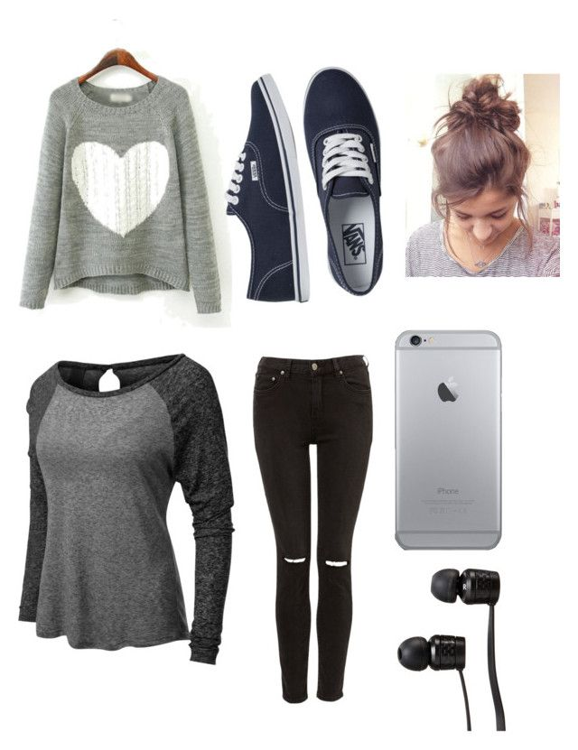 """""""Lazy Day"""" by alice-morelli ❤ liked on Polyvore featuring LE3NO and Vans"""