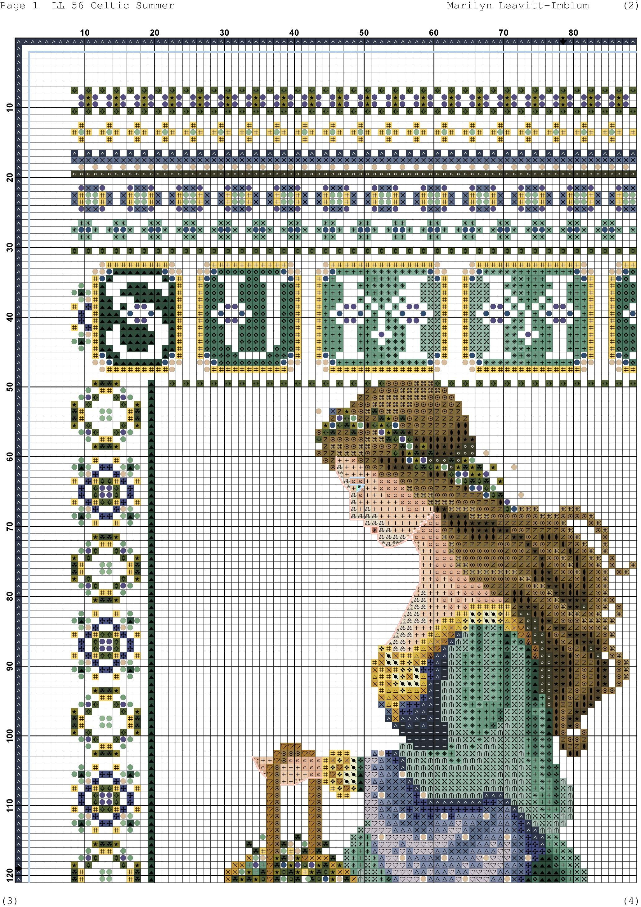 celtic summer 4 | cross stitch | Pinterest | Punto de cruz, Bordado ...