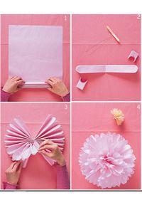 Sådan laver du nemt festlige papirs-pom pom'er til festen #fastelavnpynt
