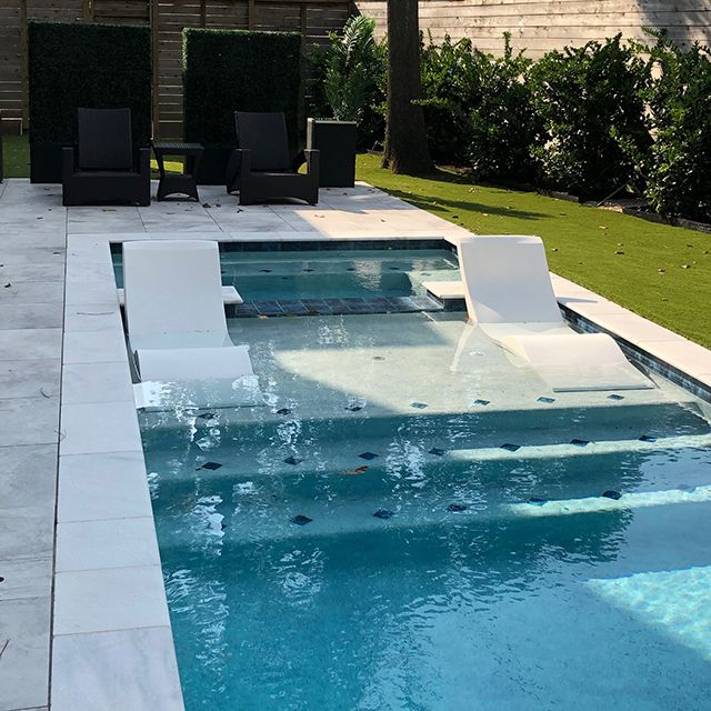 Aqua Chairs In Pool Chaise Lounge, Pool Chaise Lounge Chairs In Water