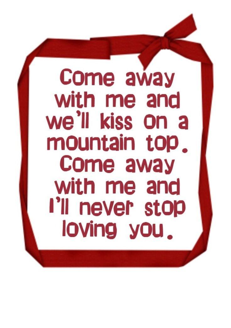 Lyric come away with me lyrics : THE HIT PARADE www.estacion71.com come away with me - norah jones ...