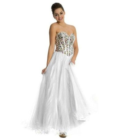 Lovely mirror beaded corset sweetheart tutu formal prom homecoming ...