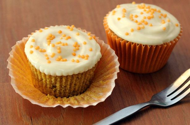 These pumpkin cupcakes with naughty maple syrup icing were made by goodtoknow's cupcake queen Victoria Threader to celebrate Thanksgiving. They're equally delicious made with butternut squash
