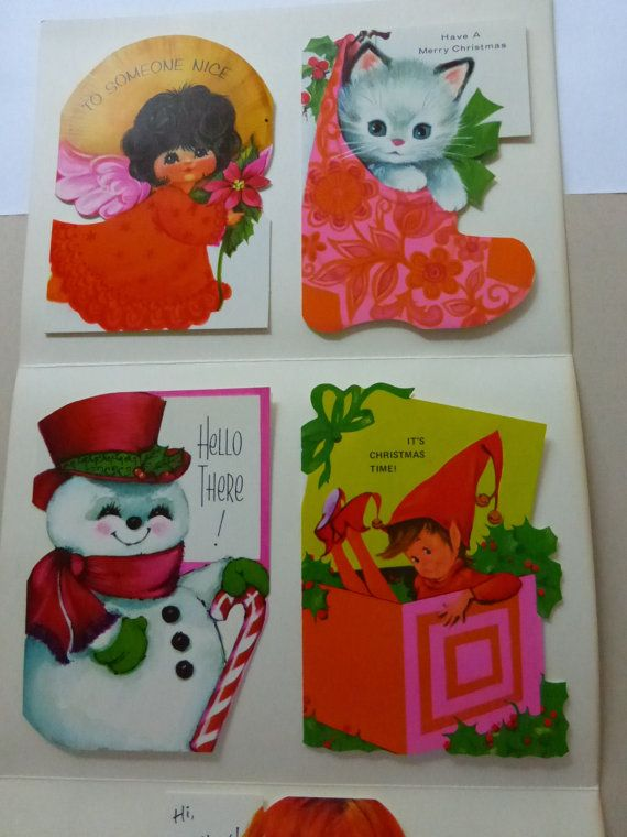Vintage Gibson Christmas Cards Salesmanu0027s Sample of Cut Out - christmas cards sample