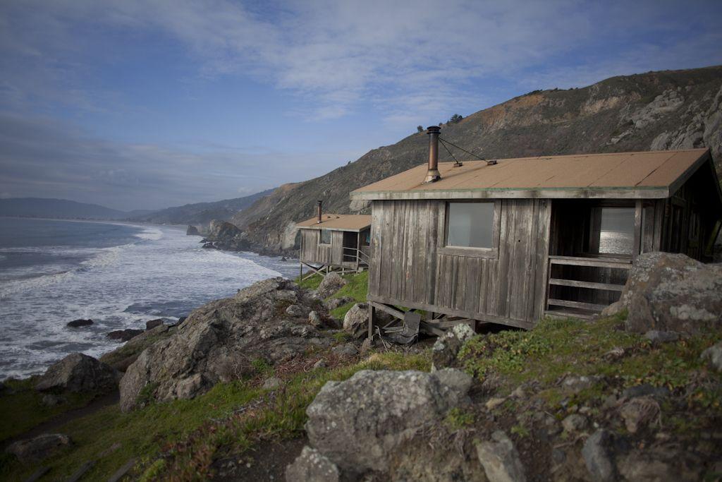 Beau Steep Ravine Cabins In Stinson Beach, California.