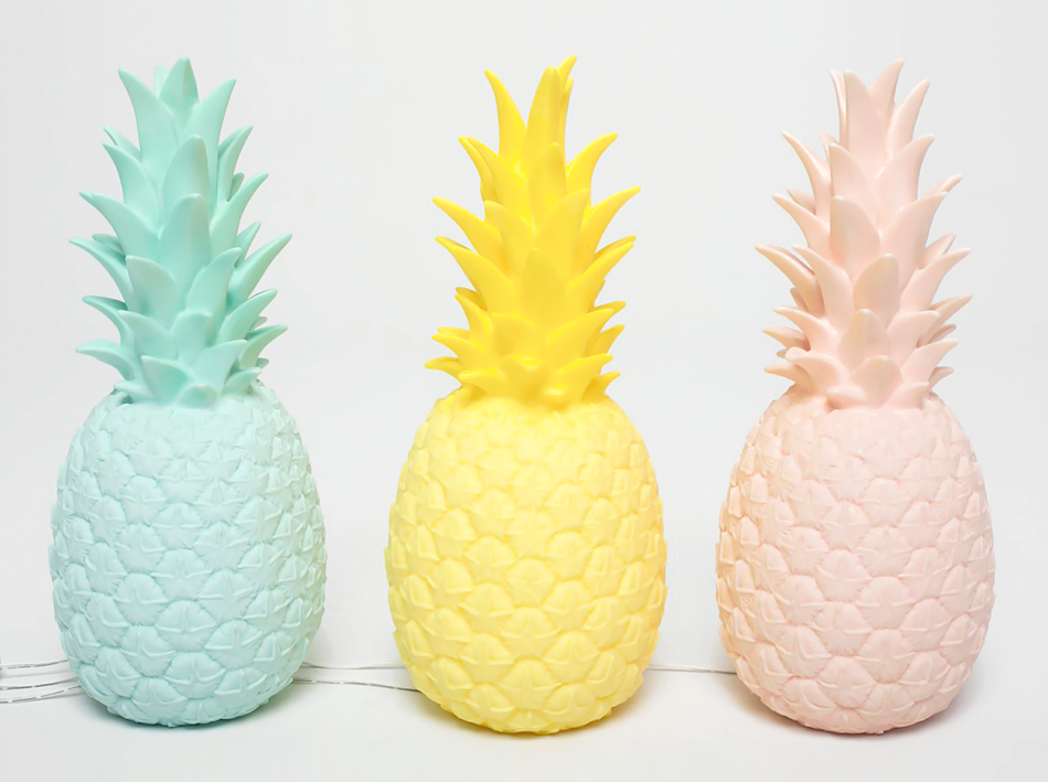 Lampe ananas pineapple light bird on the wire for Ananas deco maison