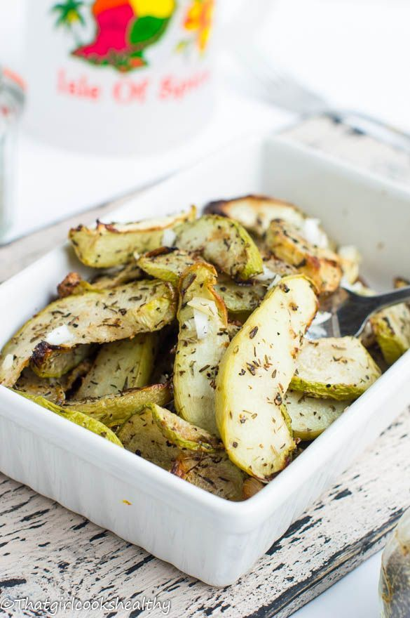 Roasted cho cho (Chayote) - That Girl Cooks Healthy #chayoterecipes