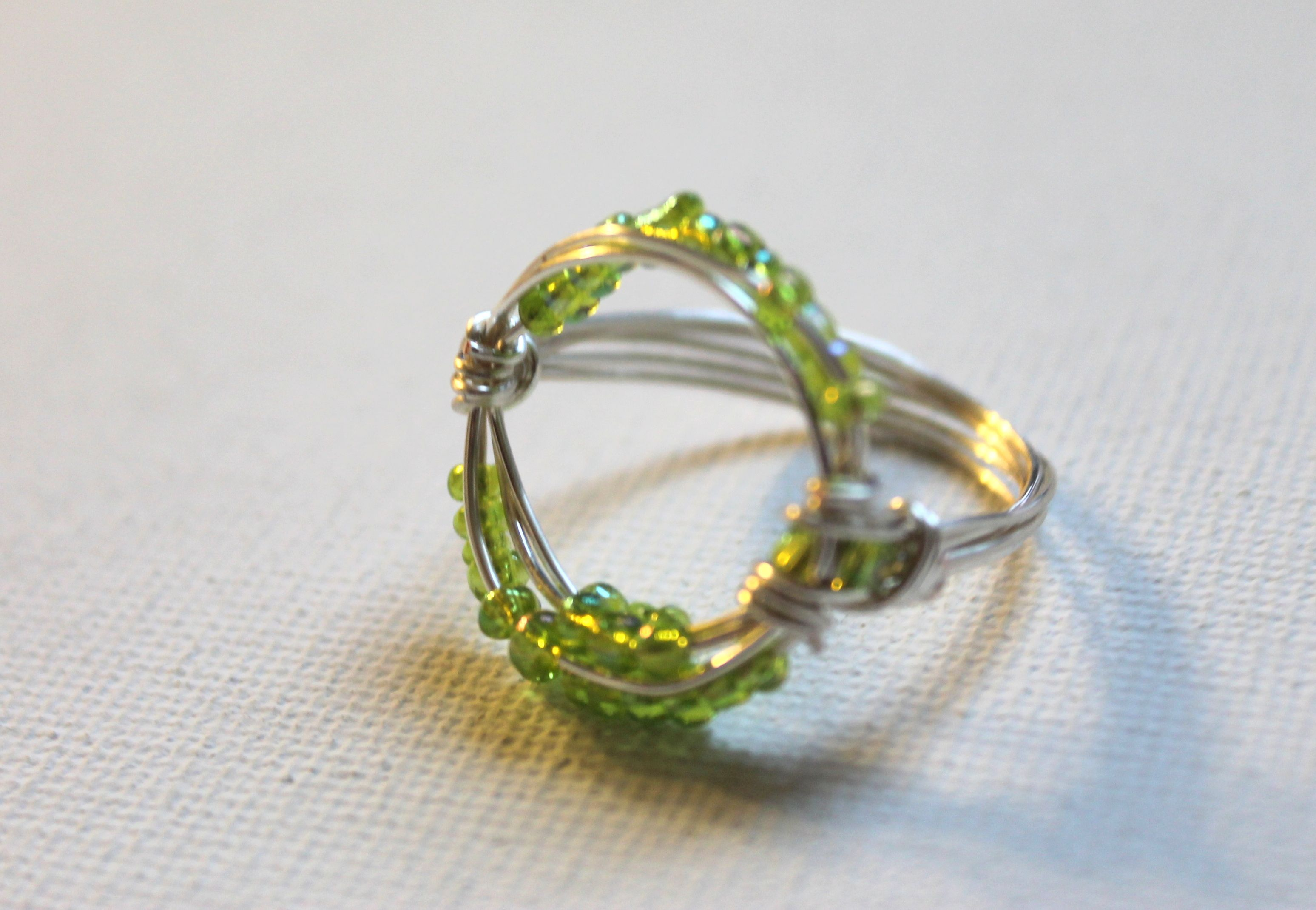 Wire Wrapped Circle Ring Tutorial   so crafty   Pinterest   Ring ...