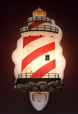 Lighthouse Bathroom Decor Lighting Night Light Decorative Nite Lights