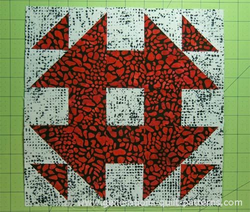 Monkey Wrench Quilt Block Pattern: Illustrated Step-by-Step ... : monkey quilt pattern - Adamdwight.com