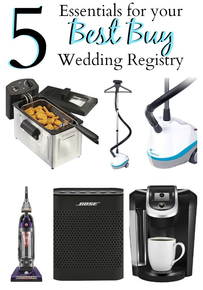 5 Essentials For Your Best Buy Wedding Registry Wedding Registry Best Wedding Registry Wedding Party Songs