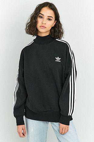 Stripe Adidas Sweatshirt Originals Turtleneck Black 3 Fashion In ESx4rqS