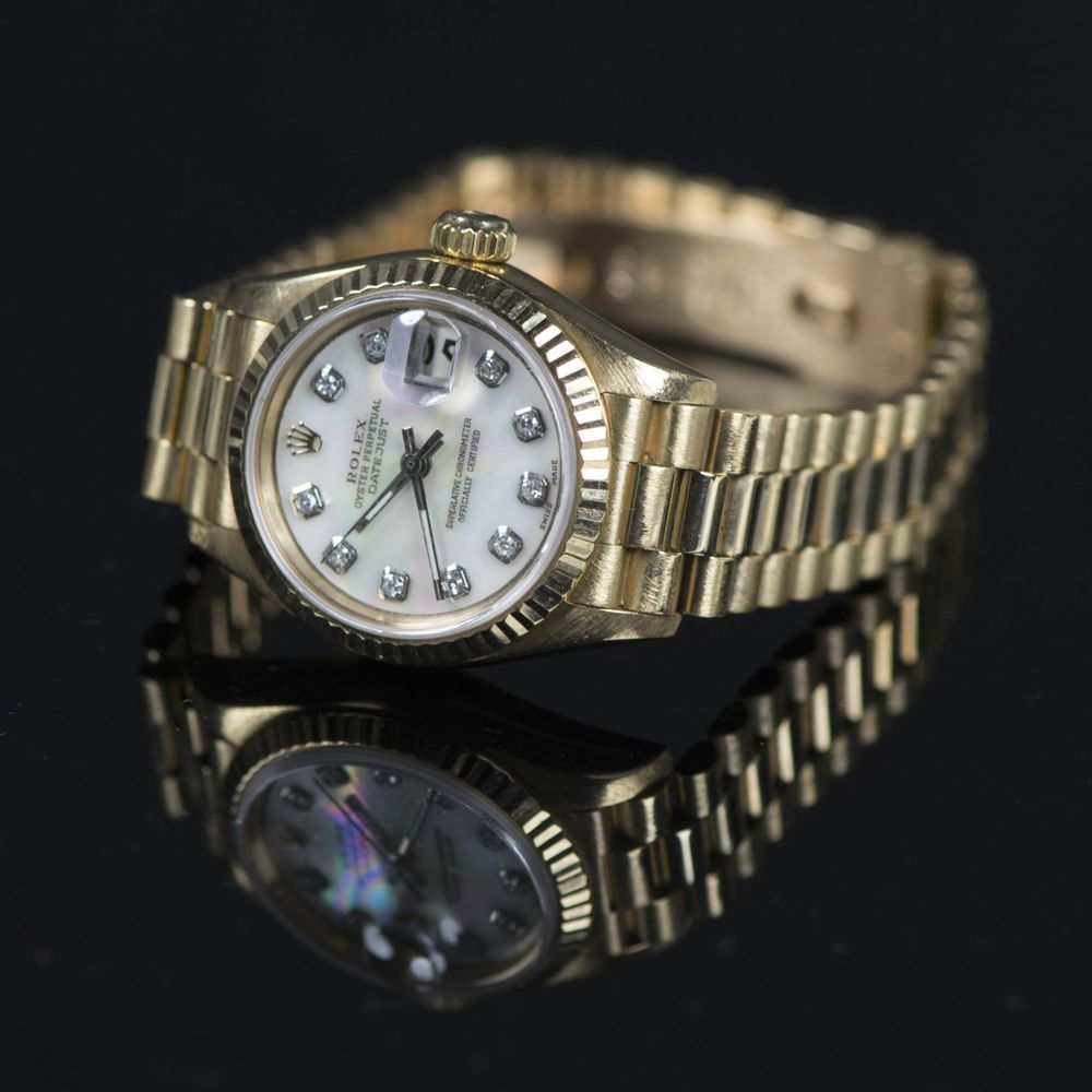 Rolex President Lady Datejust 26mm Women S Watch 69178 Solid Gold Vintage 1990 Rolex Womens Watches Datejust