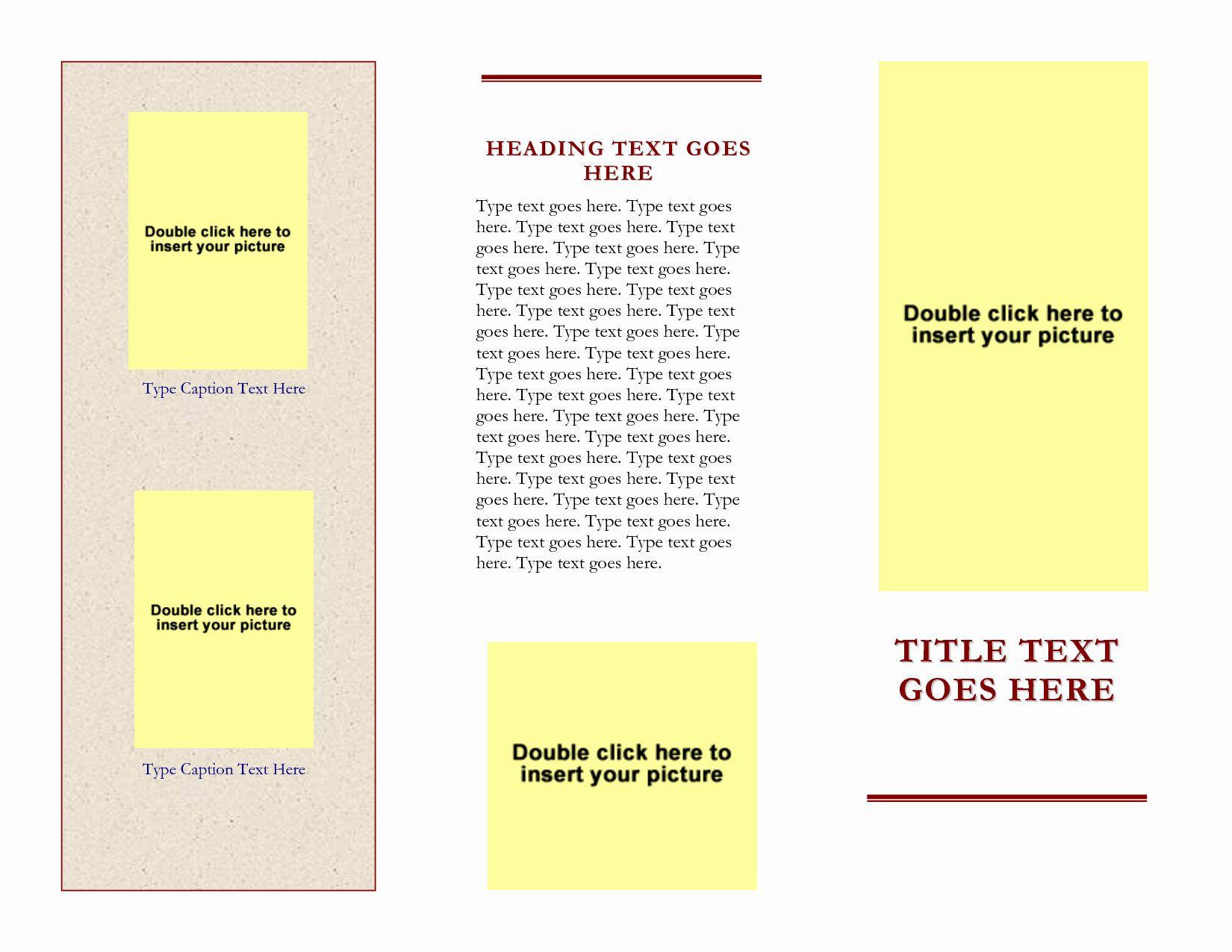 Word Tri Fold Templates Fresh Microsoft Word Scroll