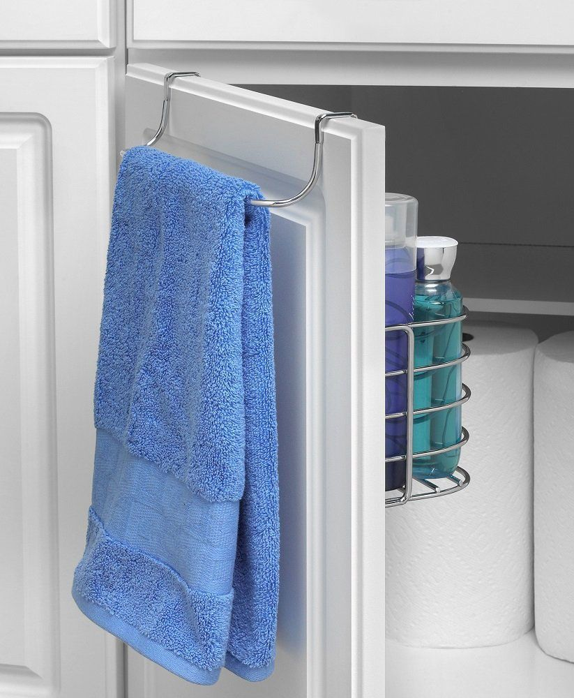 The Towel Rack with Basket utilizes unused cabinet space to maximize ...