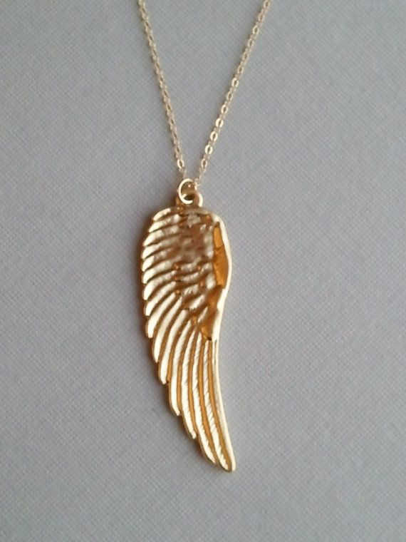 Gold angel wing dainty brite pinterest accesorios gold angel wing aloadofball Choice Image